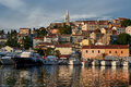 View Of Vrsar Port And Village -Istria,Croatia Royalty Free Stock Photo
