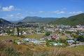 View of Waikawa Valley & Picton, New Zealand. Royalty Free Stock Photo