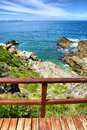 View at Walker Bay from bridge Royalty Free Stock Photography