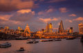 View from Waterloo Bridge Royalty Free Stock Photo