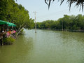 View waterside house canal sea thailand Stock Photos