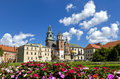 View of the Wawel cathedral and Wawel castle on the Wawel Hill, Krakow, Poland. Royalty Free Stock Photo