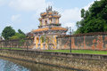 View of the Western gate of the Forbidden Purple city to Hue Royalty Free Stock Photo