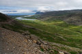 View of westfjord landscape iceland mouth a river in area northwest Royalty Free Stock Image