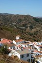 View of whitewashed village and surrounding countryside iznate malaga province andalucia spain western europe Stock Photo