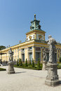 View of wilanow royal palace on august is a located in the district warsaw poland the was built in the years for king jan iii Stock Images
