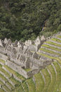 View of Winaywayna, along the Inca Trail, Peru. Royalty Free Stock Photo