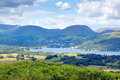 View of Windermere Lake District National Park England uk Royalty Free Stock Photo