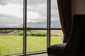 View from window to lanscape at country house Royalty Free Stock Photo