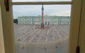 View through the window to the Palace Square Royalty Free Stock Photo