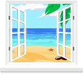 View from window vector twindow this is file of eps format Royalty Free Stock Images