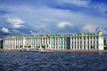 View winter palace in saint petersburg from neva river russia Stock Photo