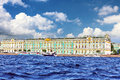 View Winter Palace  in  St Petersburg Royalty Free Stock Photos