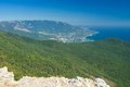 View on Yalta city from the Ai-Petri mountain Royalty Free Stock Photo