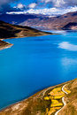 View yamzho yumco lake Stock Photography
