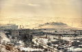 View of yerevan from erebuni fortress armenia Stock Photos