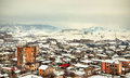 View of yerevan from erebuni fortress armenia Royalty Free Stock Photography