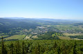 View of the zlate hory czech republic from kopa biskupa opava mountains Royalty Free Stock Photo