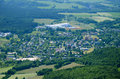 View of the zlate hory czech republic from kopa biskupa opava mountains Royalty Free Stock Photos