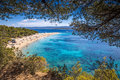 View on Zlatni Rat beach Royalty Free Stock Photo