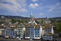 View of the zurich from a viewing point platform Royalty Free Stock Photos
