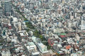 Viewed from a high angle view of the business district in japan Stock Photos
