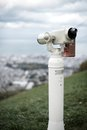 Viewfinder at an observation point above otaru japan Royalty Free Stock Images