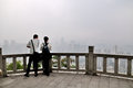 Viewing platform in the top of banzhang mountain the photo was taken as Stock Image