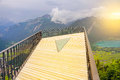 Viewpoint above Interlaken. Royalty Free Stock Photo