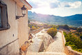 Viewpoint in guadalest spain beautiful Royalty Free Stock Image
