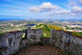 Viewpoint of pena palace portugal Royalty Free Stock Image