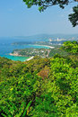 Viewpoint phuket bay city thailand Royalty Free Stock Photography