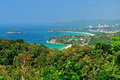 Viewpoint phuket bay city thailand Stock Photography