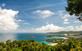 Viewpoint phuket bay city thailand in Stock Photo