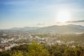 Viewpoint at rang hill on blue sky in phuket Thailand Royalty Free Stock Photo