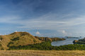Viewpoint at rinca isalnd komodo national park indonesia Stock Images