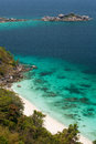 Viewpoint of similan islands famous paradise bay thailand Royalty Free Stock Photos
