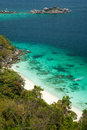 Viewpoint of similan islands famous paradise bay thailand Royalty Free Stock Image