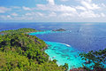 Viewpoint in similan islands national park island phang nga thailand Stock Photo