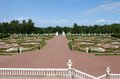 Views on beauty royal garden from the balcony of the palace oranienbaum russia july a regular Stock Images