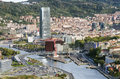 Views of bilbao city bizkaia basque country spain Royalty Free Stock Images