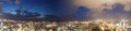 Views of the city night lights at tel aviv in israel sunset Stock Photography