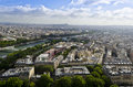 Views from the eiffel tower – paris france of level of Stock Photography