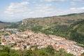 Views of ezcaray village in la rioja spain aerial view Stock Photo