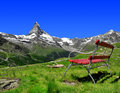 Views of the matterhorn swiss alps Stock Images