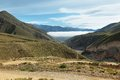 Views from route on its way to iruya salta province argentina is under the fog at background Stock Photography