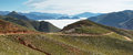 Views from route on its way to iruya salta province argentina is under the fog at background Royalty Free Stock Photos