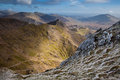 Views from Snowdon Royalty Free Stock Images