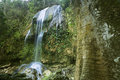 Views of the soroa fall pinar del rio cuba waterfall sequence Stock Photo