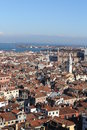Views of venice from the saint mark bell tower italy Royalty Free Stock Photography